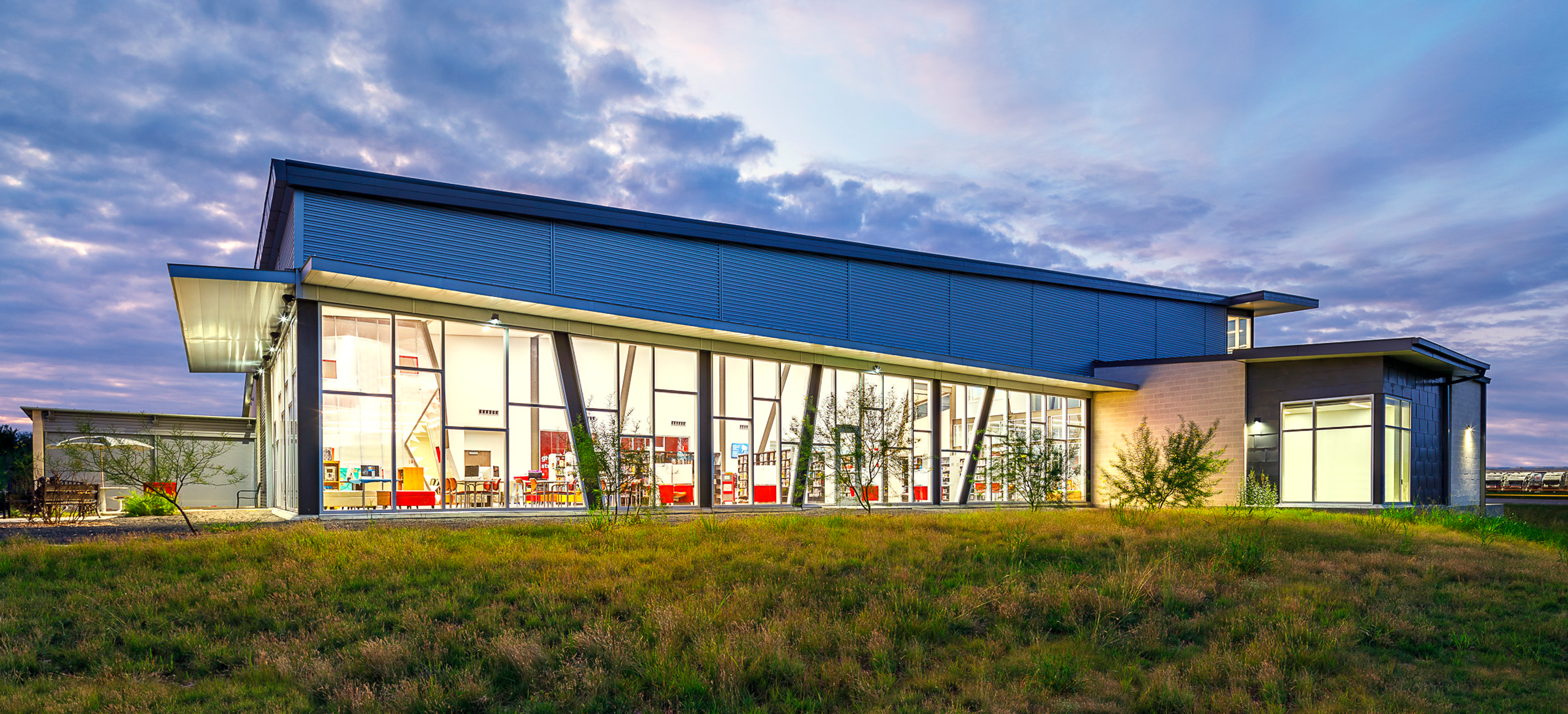 Designed by LPA Inc., the Schaefer Branch Library Celebrates Grand Opening